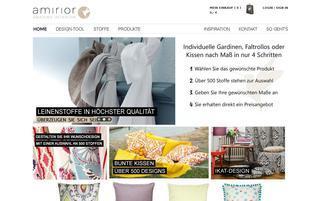 Amirior Webseiten Screenshot