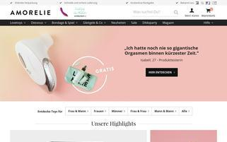 Amorelie Webseiten Screenshot