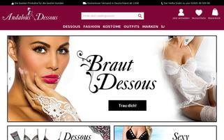 Andalous Dessous Webseiten Screenshot