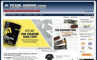 Andro Shop Webseiten Screenshot