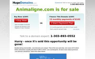 animaligne.com Webseiten Screenshot