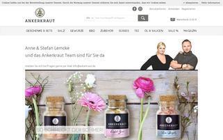 Ankerkraut Webseiten Screenshot