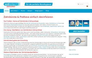 anti-infect.de Webseiten Screenshot