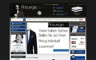 Anzuege.de Webseiten Screenshot