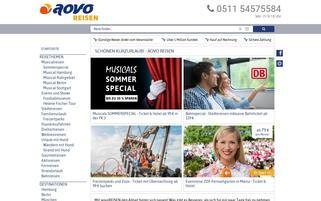 aovoReisen Webseiten Screenshot
