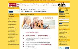 apondo Webseiten Screenshot