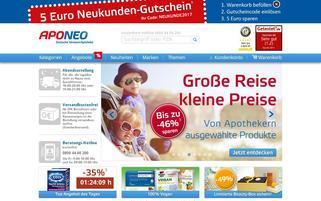 Aponeo Webseiten Screenshot