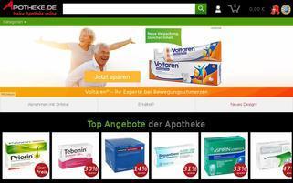 Apotheke.de Webseiten Screenshot