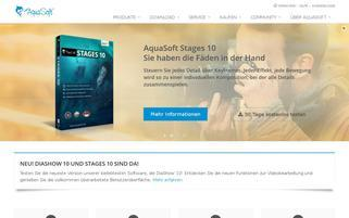 AquaSoft Webseiten Screenshot