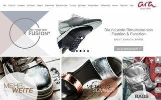 ara-shoes.de Webseiten Screenshot
