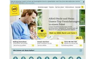 ARAG Webseiten Screenshot