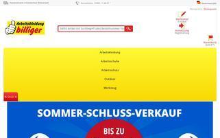 arbeitskleidung-billiger.com Webseiten Screenshot