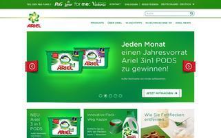 Ariel Webseiten Screenshot