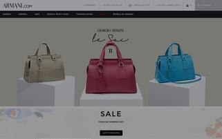 Armani Webseiten Screenshot
