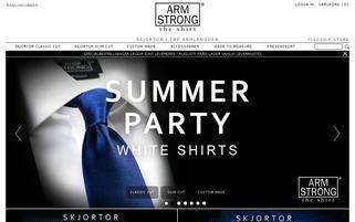 armstrongtheshirt.com Webseiten Screenshot