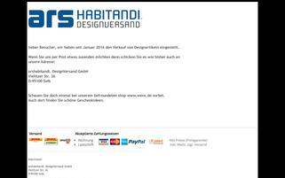 ars habitandi Webseiten Screenshot