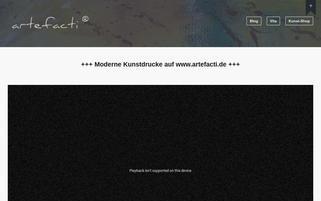 artefacti.de Webseiten Screenshot