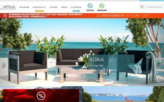 Artelia Webseiten Screenshot