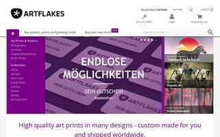 Artflakes Webseiten Screenshot