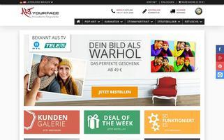 ArtYourFace Webseiten Screenshot