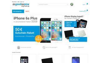 asgoodasnew Webseiten Screenshot