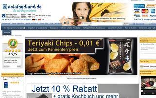 Asia Food Land Webseiten Screenshot