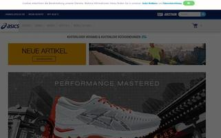 ASICS Webseiten Screenshot