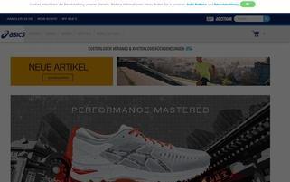 ASICS Webseiten Screenshot