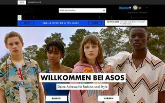 ASOS Webseiten Screenshot