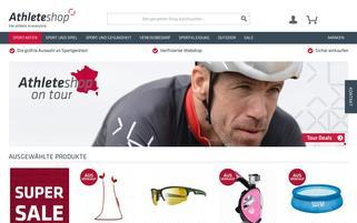 Athleteshop Webseiten Screenshot