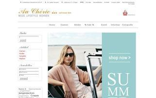 Au Cherie Webseiten Screenshot