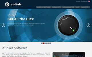 Audials Webseiten Screenshot