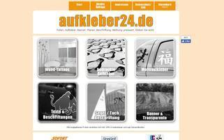 aufkleber24 Webseiten Screenshot