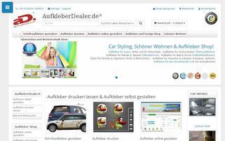 aufkleberdealer.de Webseiten Screenshot