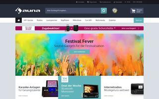 Auna Webseiten Screenshot