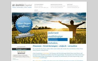 aurea-capital.de Webseiten Screenshot