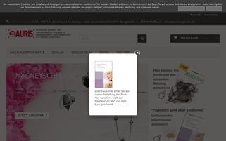 auris-magnetfeldtherapie.de Webseiten Screenshot