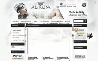 aurumjewelry.de Webseiten Screenshot