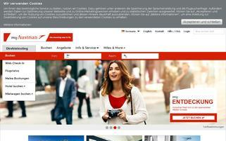 Austrian Airlines Webseiten Screenshot