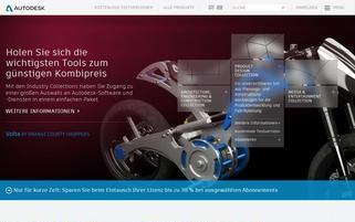 Autodesk Webseiten Screenshot
