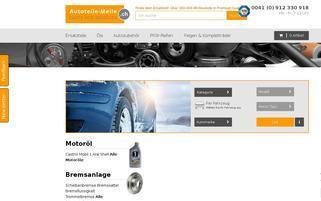 Autoteile-Meile CH Webseiten Screenshot