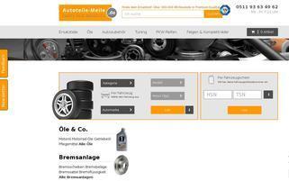 Autoteile-Meile Webseiten Screenshot