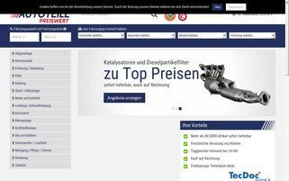 Autoteile-Preiswert Webseiten Screenshot