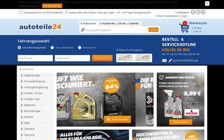 autoteile24 Webseiten Screenshot