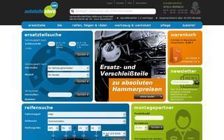 AutoteileStore Webseiten Screenshot