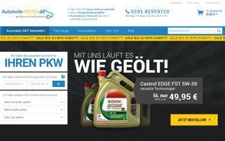 AutoteileTREND Webseiten Screenshot