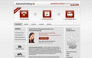 autozertruemmern.de Webseiten Screenshot