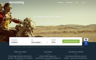 Auxmoney Webseiten Screenshot