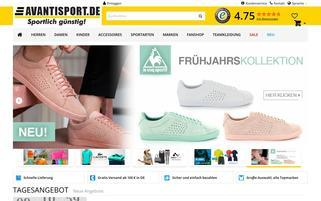 Avantisport.de Webseiten Screenshot