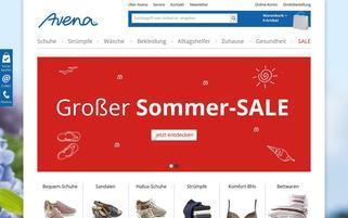 Avena Webseiten Screenshot